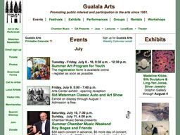 Gualala Arts events page 2010