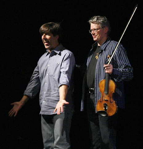 Thomas Newman and David Harrington, at the Art in the Redwoods Festival 2009