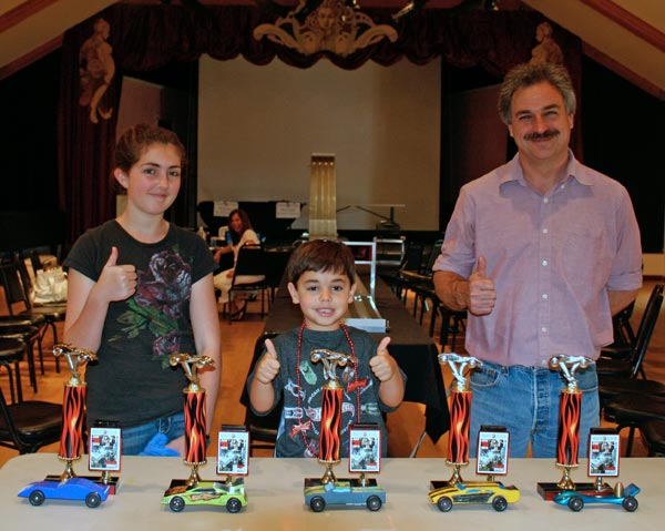 Pinewood Derby winners, Gualala Arts Center, July, 2012