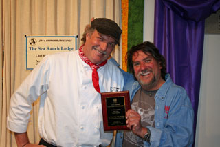 2014 Chowder Challenge: Chef Richard Whipple (left) with Director 'Sus' Susalla