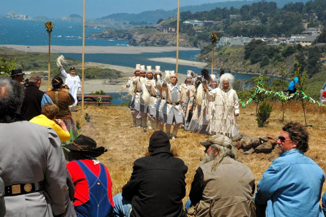 Sakha Cultural Festival, Serge dedication at Gualala Point Regional Park, June, 2014; photo courtesy of Bob Rutemoeller